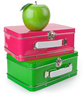 Lunchbox and apples