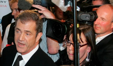 Mel Gibson is in a media swarm again