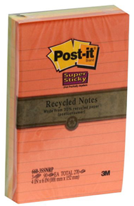 Post-it recycled notes