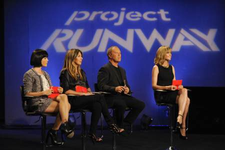 Selma Blair anchors a judging panel that always includes Heidi Klum on Project Runway