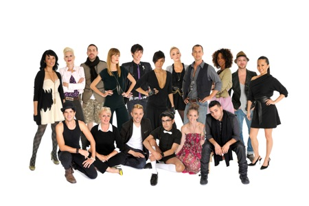 The designers of Project Runway 2010