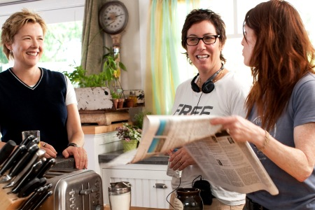 Annette Bening, Lisa Cholodenko and Julianne Moore talk shop