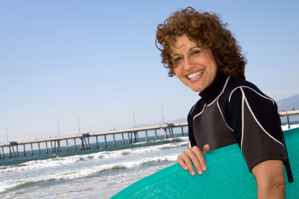 Woman surfer