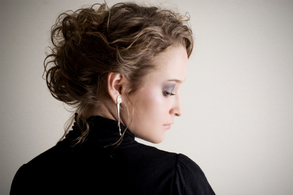 pinned up ringlets updo hairstyle. style Pin+curls+updo