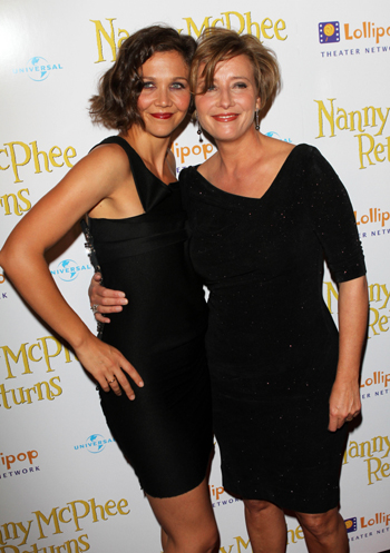 Emma Thompson and Maggie Gyllenhaal at Nanny McPhee premiere