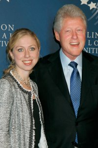 Chelsea Clinton and Bill Clinton