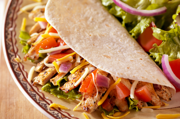 Chicken & black bean tacos