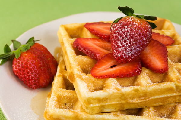 Cinnamon brown sugar oat waffles