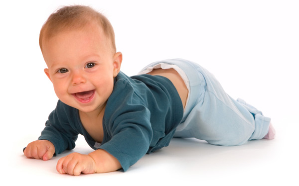 Crawling baby boy
