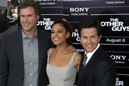 The stars of The Other Guys: Will Ferrell, Eva Mendes and Mark Wahlberg