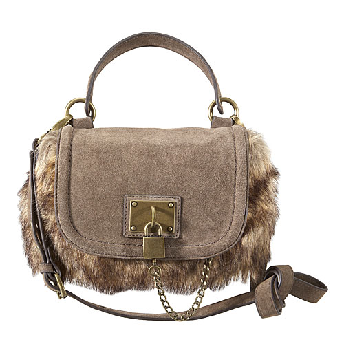 Faux fur handbag purse