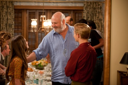 Rob Reiner directs his cast in Flipped