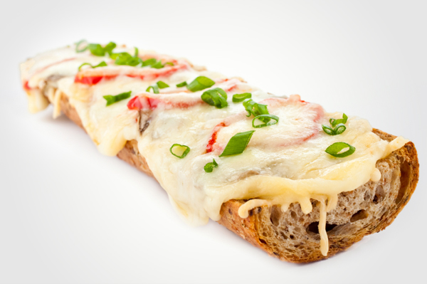 Hidden veggie french bread pizza
