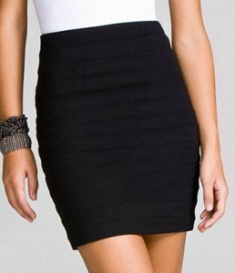 High-waisted skirt