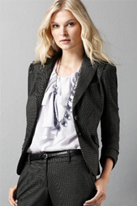 Anne Taylor Loft Houndstooth Suit Jacket