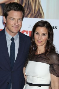 Jason Bateman and his wife at The Switch premiere