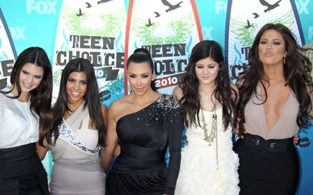 The Kardashian clan at the Teen Choice Awards 2010