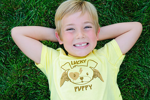 Lucky Puppy clothing company for kids and adults donates 15% of their sales ...