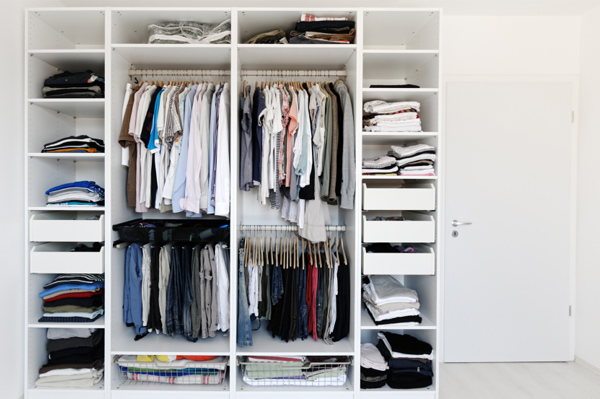 Neat and organized closet