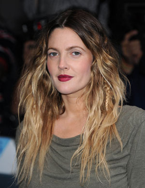 drew barrymore ombre gradient hair color