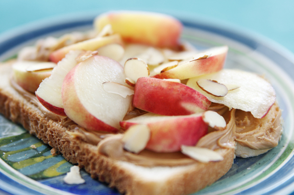Peanut butter and fruit sandwich
