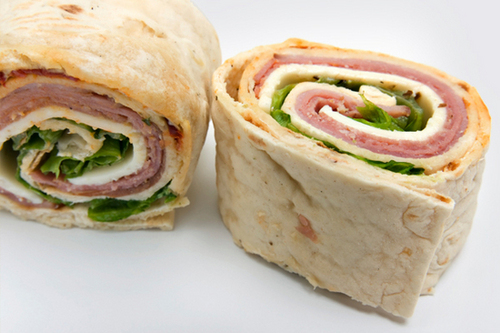 how to make a ham and cheese wrap