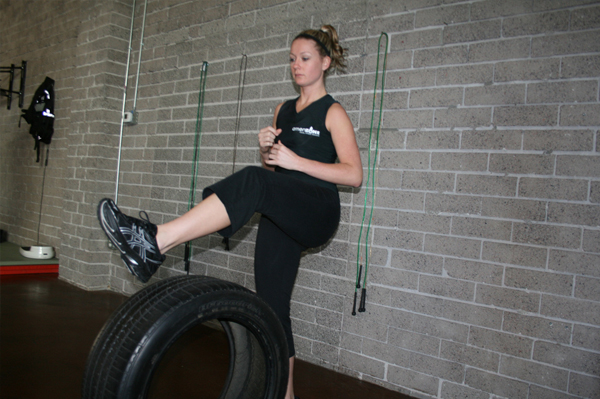 Full-body exercises with tires
