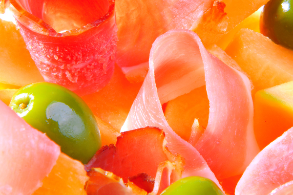 Proscuitto melon salad