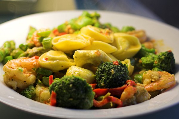 Roasted Vegetables and Lemon Tortellini