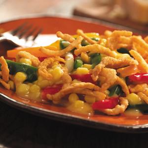 Southwestern corn and pepper casserole