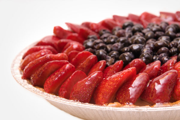 Strawberry and blueberry pie