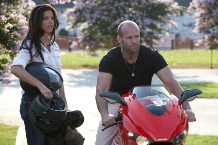 Charisma Carpenter and Jason Statham in The Expendables