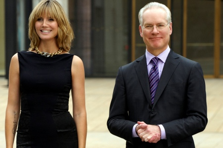 Tim Gunn and Heidi Klum on Project Runway