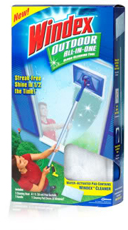 Windex's Outdoor All-in-One Glass Cleaning Tool
