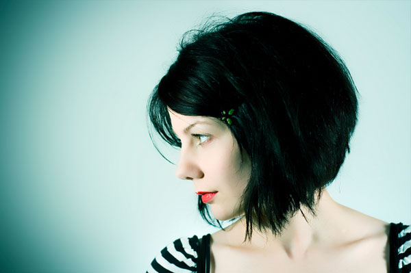 Woman with faux bob