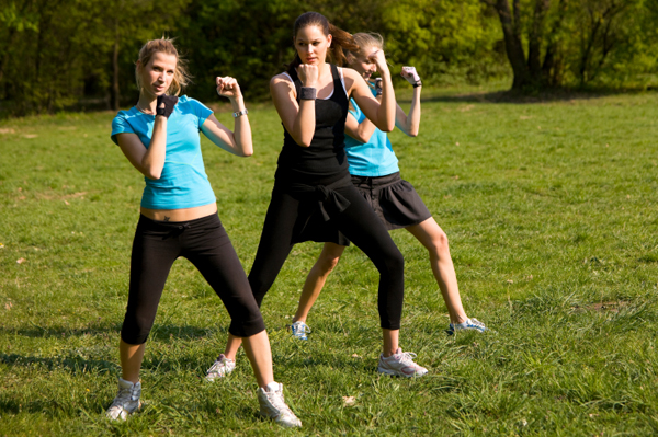 Women in fitness bootcamp