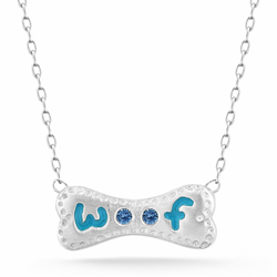 Bling bone Woof necklace