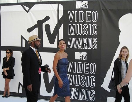 Rosario Dawson at the VMAs
