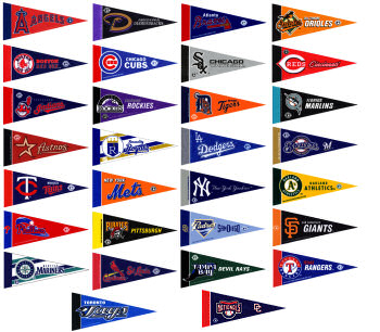 Baseball pennant set