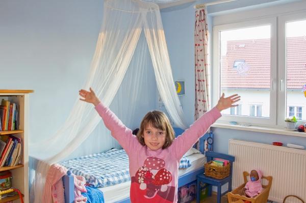 Blue bedroom for girl