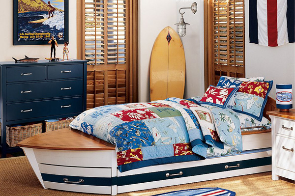 Boys' surf bedroom