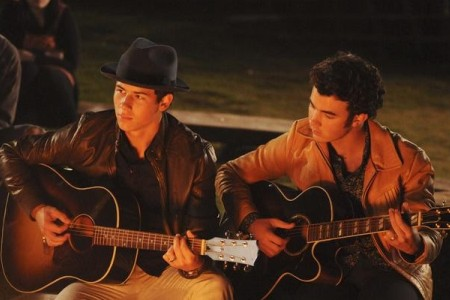The Jonas Brothers go to camp in Camp Rock 2