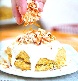 fall breakfast carrot cake scone recipe 