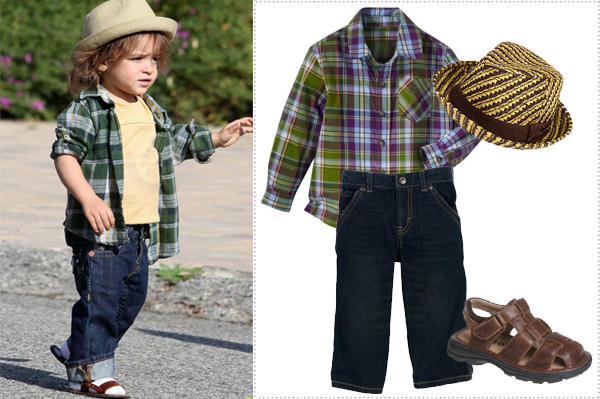 Celebrity kids' style for less
