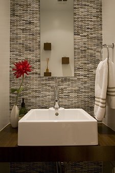 Modern powder rooms are perfect for  smaller spaces.