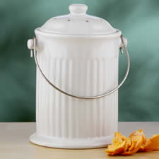 A cute variation of the composting bucket.
