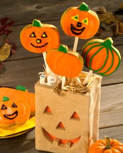 Pumpkin Cookie Pops