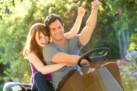 Easy A stars Emma Stone and Penn Badgley