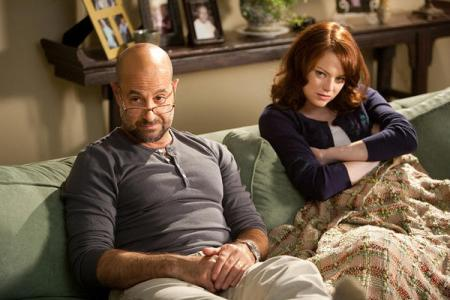Easy A stars Stanley Tucci and Emma Stone
