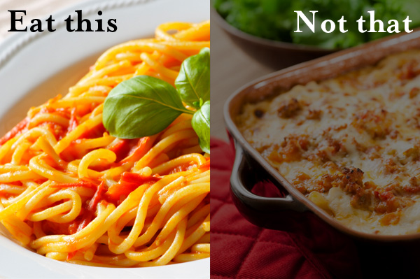 Eat this not that - marinara sauce vs lasagna